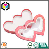 Caixa de presente rígida Shaped do papel do cartão do coração para Coreia