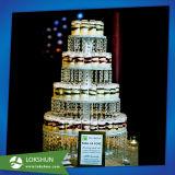 De hete Verkopende AcrylTribune van de Vertoning van de Cake voor de Partij van het Huwelijk, Fabrikant van de Vertoning van China de Acryl