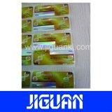 Escritura de la etiqueta auta-adhesivo modificada para requisitos particulares del frasco del holograma 10ml de la Anti-Falsificación del SUS 250 de la impresión