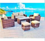 Novo design moderno de vime pátio/Wicker Leisure jardim exterior Mobiliário Sofá