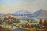 Ручная работа Классический пейзаж картины маслом на холсте