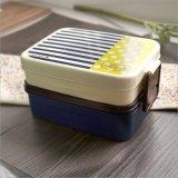 Bento 상자 음식 콘테이너 20104 안쪽에 Spork를 가진 플라스틱 도시락