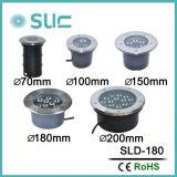 Form 9W 220V Tiefbaubeleuchtung des Druckguss-Aluminium-LED