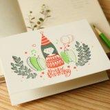 Multicolor personalizado Imprimir tarjeta de felicitación, protección del medio ambiente, la personalidad