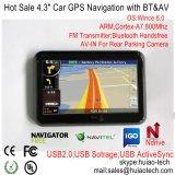 """Stock usine 4.3"""" voiture camion Marine Navigation GPS avec TMC, navigateur GPS Bluetooth, transmetteur FM, AV-in de la caméra arrière, système de navigation GPS de poche"""