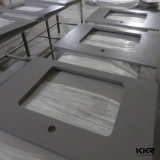 Kkr paste Zwarte Stevige Countertop van de Keuken van de Steen van het Kwarts van de Oppervlakte aan