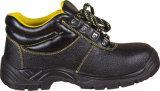 Fabricante profesional de zapatos de seguridad de acero de cuero del casquillo de la punta de los zapatos de trabajo