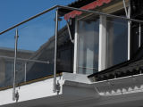 Het Afstand houden van de Klem van het Glas van de Staaf van de steun zet de Balustrade van het Balkon van het Frame van het Staal op