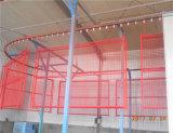 上のカプラーが付いている粉のコーティングそして電流を通す鋼鉄塀のパネル