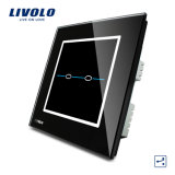 Fabricante de interruptor de vidrio 2 pista 2 Camino a Casa Smart Switch Vl-C302s-31/32