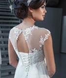 Sans manches robes de mariée Empire dentelle maternité mariage robes du soir Z1038