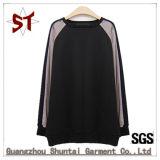 O algodão Lady costuras corpo negro T-shirt mulheres