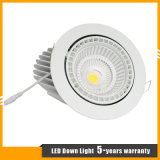 techo Downlight del cardán de la MAZORCA LED del CREE 10W-50W