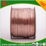 Cable de altavoz transparente de alta gama el cable de audio