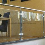 Het Traliewerk van de Balustrade van de Leuning van het Glas van het roestvrij staal