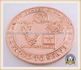 эмаль & цинк 3D медная Plating& мягкая умирают монетки бросания