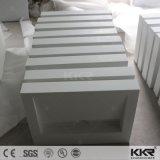 ヨーロッパデザイン現代白い石造りの大理石の浴室の虚栄心の洗面器