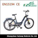 Bici elettrica femminile popolare con il sistema di frenatura sicuro della sede comoda