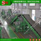 Basura de proceso de alta calidad del sistema de reciclaje/neumático usado/del desecho a la miga útil de 1-5m m