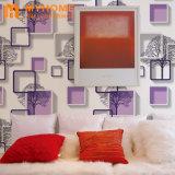 Les conceptions de l'intérieur étanche en vinyle PVC Papier peint rose 3D pour la décoration des murs