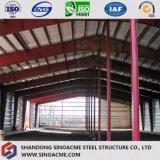 Entrepôt léger préfabriqué de bâti en acier avec le bâti portique