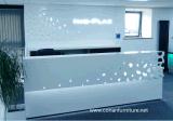 Corian 아크릴 단단한 지상 정면 접수처 특별한 디자인