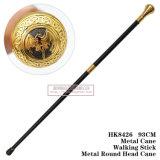 Металла шпаги тросточки металла ручка 93cm HK8426 круглого головного гуляя