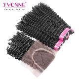 イボンヌの閉鎖のブラジルの人間の毛髪を搭載する卸し売り毛の束