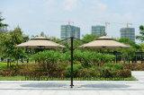 Paraguas de Roma del jardín del redondo superior del doble de la aleación de aluminio