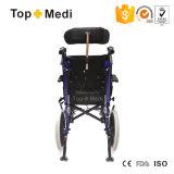 Ausrüstungs-faltbarer stützender zerebrale Lähmung-Aluminiumrollstuhl für Behinderte