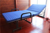 Base supplementare piegante dell'hotel della base del banco con il materasso (azzurro 190*90cm)