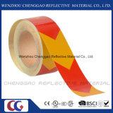 ペット物質的な自己接着反射注意の床のマーキングテープ(C1300-AW)
