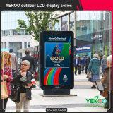 Al aire libre de 43 pulgadas de pie permanente Publicidad Display LCD Digital Signage