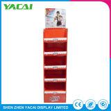 Zoll gefalteter Fußboden-Papier-Einzelverkaufs-Zahnstangen-Sicherheits-Ausstellungsstand