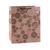 Bolsa de papel del regalo de la manera del almacén de ropa de Kraft del modelo de flor