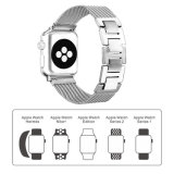 Milanesas de acero inoxidable Correa de enlace de bucle para Apple Iwatch Band