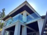Современный дизайн из стекла из нержавеющей стали поручни внутренней лестницы поручень из закаленного стекла
