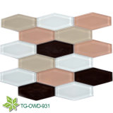 Fábricas de vidro metálicas bonitas das telhas cerâmicas do mosaico da tendência nova em China