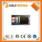 Niedriges Voltag Kabel/doppeltes kupfernes Isolierungs-Kurbelgehäuse-Belüftung umhülltes Stahldraht-gepanzertes Energien-Kabel Cu/XLPE/Swa/PVC IEC60502-1 des Leiter-XLPE