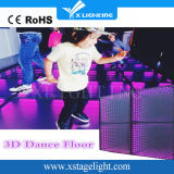 painel Dance Floor do diodo emissor de luz 3D para o concerto