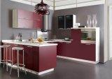 Gabinete de madeira lustroso para a mobília Home da cozinha (customzied)