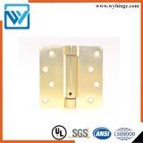 Charnière en laiton de qualité lourde de matériel de porte, charnière de ressort de pouce 2.5mm de la charnière de porte de ressort 4