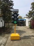 4 het Beweegbare ZonneVerkeerslicht van aspecten/Zonne Draagbaar Verkeerslicht