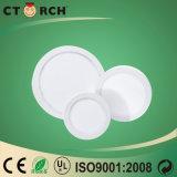 Ctorch 12W Ce/RoHSの円形LED Srufaceの台紙の照明灯