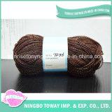 O tricô Cordão Spangle Fantasia Roxo Fios Bambu Blend para roupa