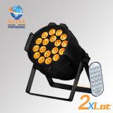 DJの段階ライトのためのDMX in/out Powerconの高い明るさ18*18W 6in1 Rgbaw紫外線無線アルミニウムLED同価ライト