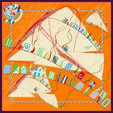 Bella sciarpa di seta stampata Digitahi (F13-0011)