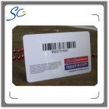Barcode와 펀치 구멍을%s 가진 비표준 크기 플라스틱 카드