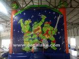 Videur sautant de tortue gonflable, sauter plein d'entrain, cavalier pour des gosses