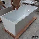 Diseño moderno de la resina de acrílico de piedra independiente en esquina Bañera
